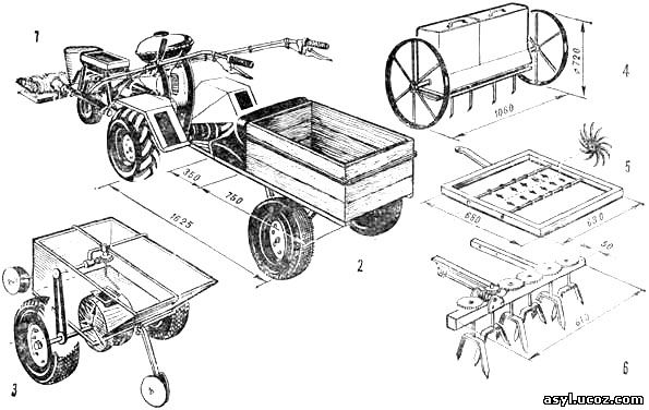 и чертежи микро-трактора и