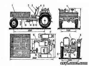 Самодельные трактора чертежи