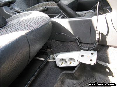 Крепление швеллера к болту крепления пассажирского сидения