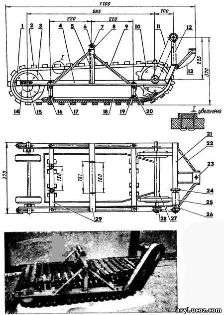 Как самому сделать гусеницы на русское авто