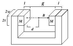 Два магнита на C-образной скобе