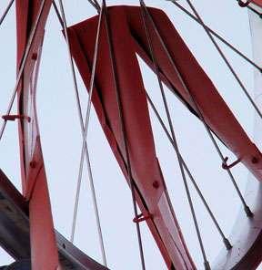 Крепление лопастей ветрогенератора к колесу
