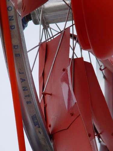 Крепление лопастей самодельного ветряка