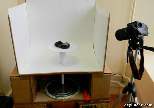 самодельный поворотный столик для фотосьемки