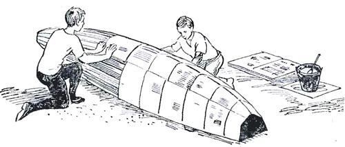 Лодка из старых газет
