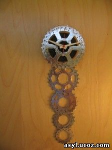Часы из велосипедных комплектующих.