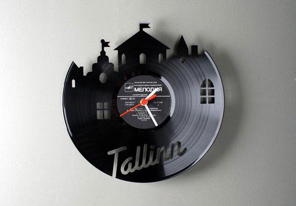 Настенные часы своими руками из старых грампластинок