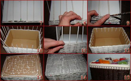 Как  сделать корзину из газета