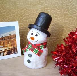поделка для детей Снеговик